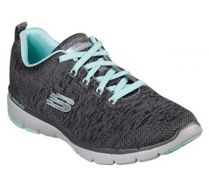 Skechers 13062 Charcoal & Light Blue