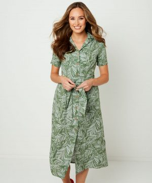 Joe Browns Leafy Shirt Dress
