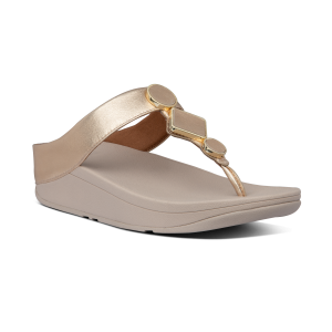 FITFLOP – LEIA Toe-Post Sandals (VINT/GOLD)