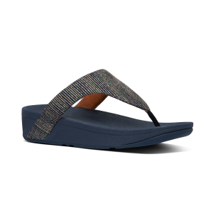 FITFLOP – LOTTIE Glitzy Toe-Post Sandals (NAVY)