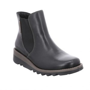 Ladies black leather Chelsea-style ankle boot with a modern chunky wedge sole. Ideal for adding a stylish finish to your outfit whilst keeping your feet comfortable. Team with skinny jeans for the ultimate on-trend fashion look. ONLY at Briggs of Morecambe