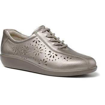 HOTTER – AVA SHOES (NICKEL)Real leather lace up shoes. ideal for outdoors and long walks in the warmer weather only at Briggs of Morecambe.