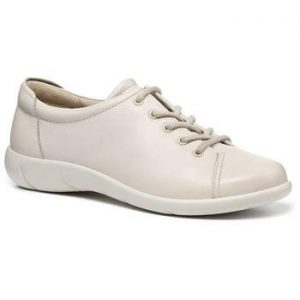 Hotter ladies dew lace up shoe also comes in navy ideal everyday easy clean real leather only at Briggs of Morecambe.