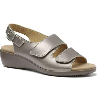 Hotter ladies summer sandal easy style Velcro fastening in metallic ideal for your summer occasions