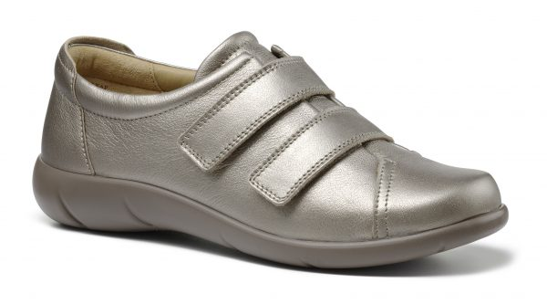 Hotter Ladies Roomy and adjustable leather shoe ideal for extra wide fitting and comfort.Only at Briggs of Morecambe