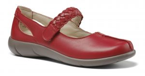 Hotter Shake in colour red perfect for any occasion, soft leather only at Briggs of Morecambe